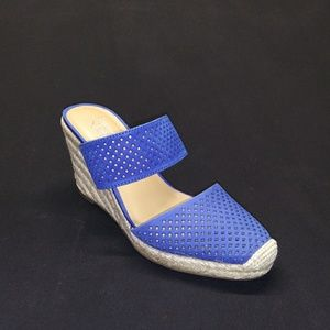 FRANK SARTO Royal Blue Wedge Size 6 1/2